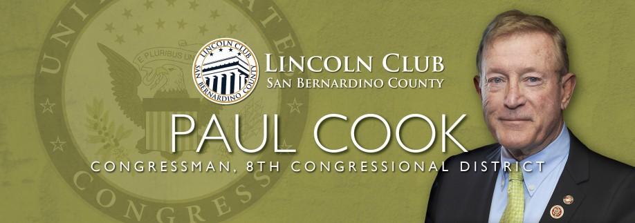 Congressman Paul Cook - Lincoln Club of San Bernardino Event