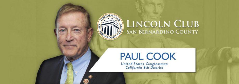 Paul Cook - Congressman - Lincoln Club San Bernardino County - Event