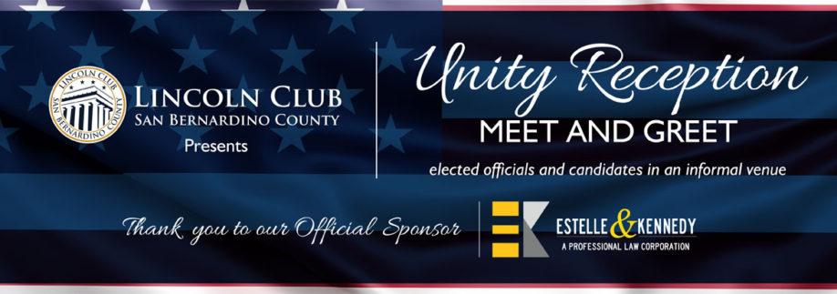 Lincoln Club of San Bernardino County - Unity Reception