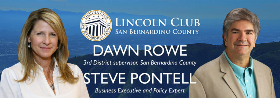 Lincoln Club of San Bernardino County - Special Event - Dawn Rowe - Steve PonTell